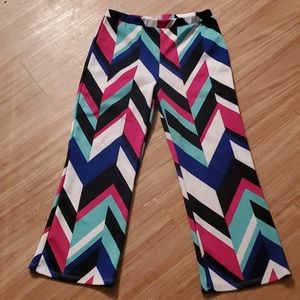 The Zig Zag Stripe Women's Ankle Pants, Size Small